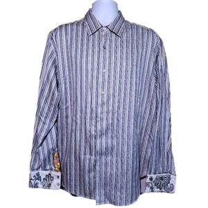 Robert Graham Long Sleeve Casual Button Front XL